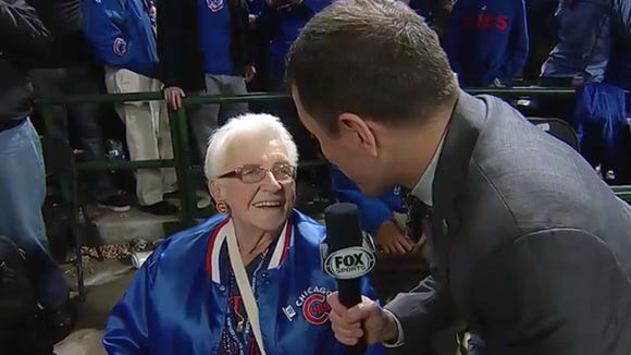 Fox Sports interviewed this sweet old woman named Dorothy.
