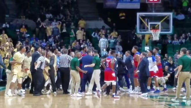 Many players were ejected in this brawl.