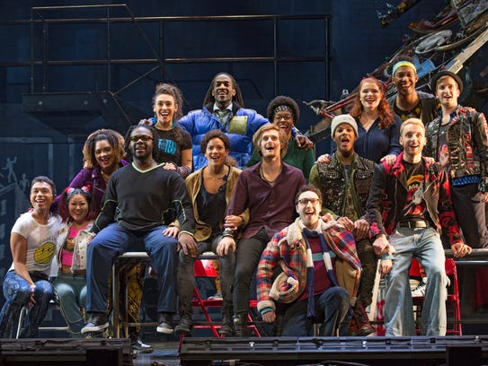 The Company of the Rent 20th-anniversary tour.