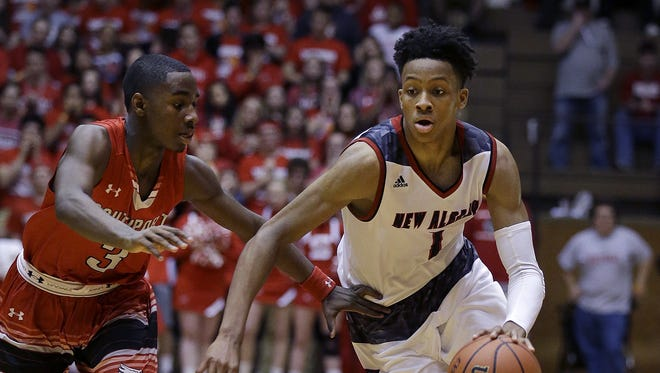 New Albany's Romeo Langford (right) is rated the No. 2 player in the country.