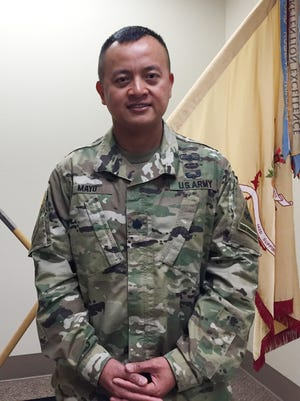 """Lt. Col. Asuero """"J."""" Mayo Jr. is the new commander for the 142nd Combat Sustainment Support Battalion."""