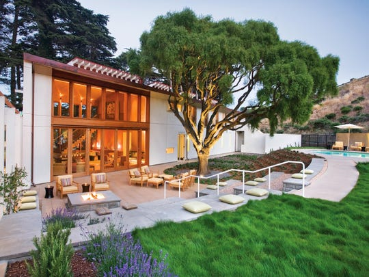 The exterior of the Healing Arts Center and Spa at Cavallo Point Lodge in Sausalito, California.
