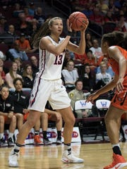 Former Fairfield and Gonzaga basketball star Jill Barta is playing well in a professional league in Europe.