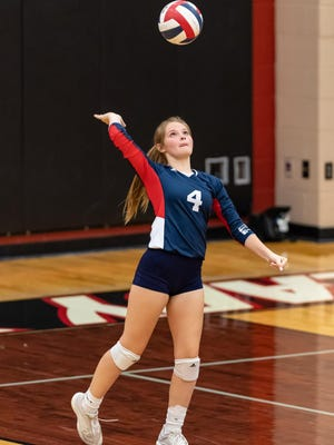 Wimberley's Jordan McFarland launched 21 assists during the Texans' three-set win over Pleasanton last week. Wimberley tops the American-Statesman's Fab Five with a 9-3 record.