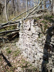 The remains of the ice house can be seen at Point Breeze, Joseph Bonaparte's 19th century estate, on the grounds of Divine Word Missionaries in Bordentown on Saturday, April 12, 2014.
