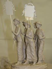 Alan LeQuire's art features five of the Tennessee suffrage movement's leaders marching to equality — Anne Dallas Dudley, Carrie Chapman Catt and Frankie Pierce of Nashville, Sue Shelton White of Jackson and Abby Crawford Milton of Chattanooga.