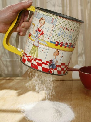 Sifting can break up clumps of flour, sugar or cocoa and help prevent clumps from holding their shape in the finished product.