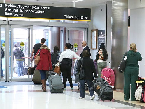 Travelers at Atlantic City International Airport on Tuesday, Nov. 26, 2013.