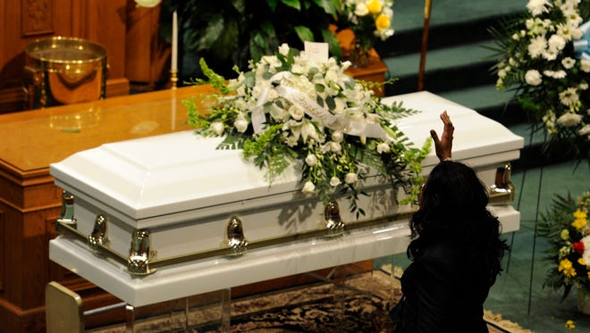 A funeral service for Freddie Gray was held Monday in Baltimore.