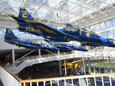 The National Naval Aviation Museum houses more than 150 restored aircraft that trace the evolution of U.S. military aviation from its beginnings to present day.