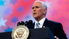 Vice President Pence speaks in Washington in March
