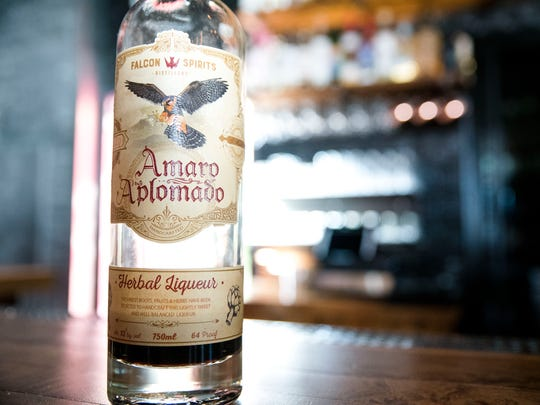 Falcon Spirits Amaro Aplomado.  Bitters speed up digestion