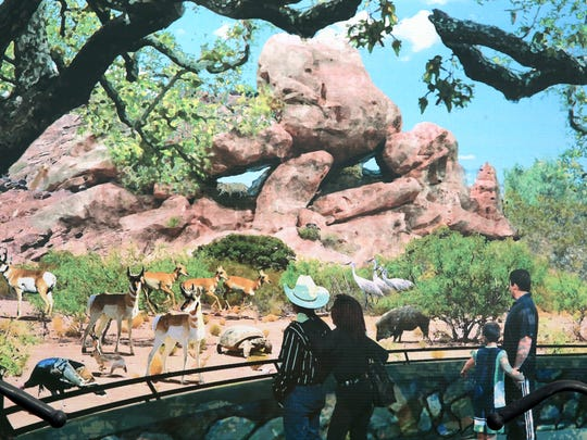 An artist rendering of what the Chihuahuan Desert exhibit at the El Paso Zoo will look like when completed.
