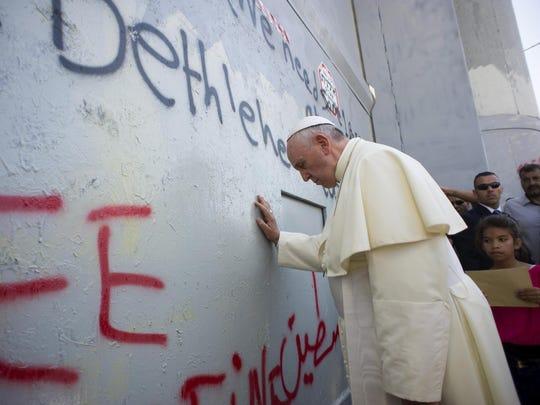 EPA MIDEAST WEST BANK POPE FRANCIS VISIT