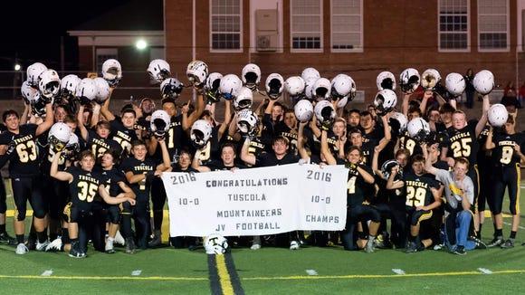 Tuscola's junior-varsity football team put the finishing touches on an undefeated season Thursday night in Waynesville.