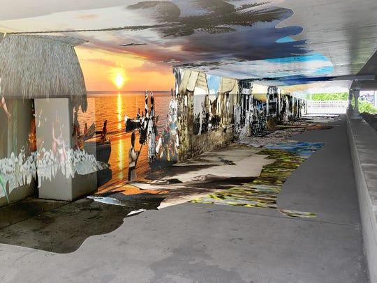 A digital rendering of local artist Juan Diaz's proposed