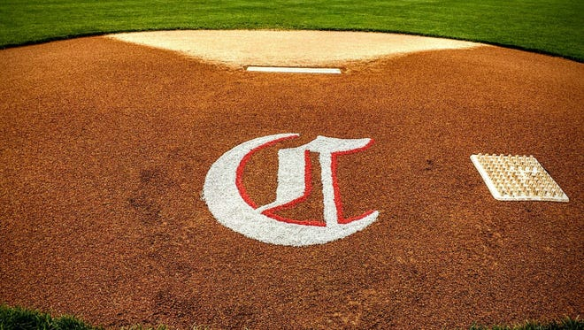 'C' logo on Reds' mound at GABP