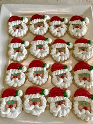 A selection of holiday themed cookies at Mammaw's Sweet Shoppe in Lafayette.