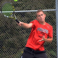 Pinckney senior Nick Romano dropped just one game en route to a flight championship at No. 1 singles in Saturday's Play for the Cure tournament at Howell High School.