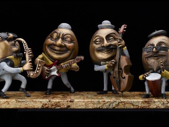 Kimber Fiebiger displays his whimsical sculptures at