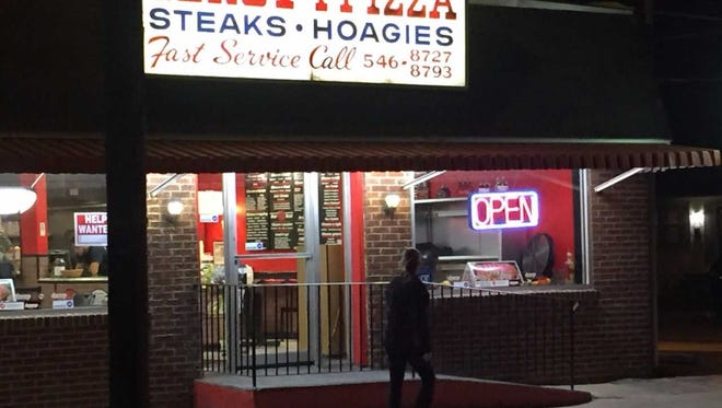 Armed robbers held up Genova Pizza on Cuthbert Boulevard  in Audubon Monday night.