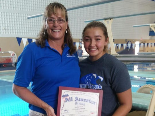 Harper Creek swimming and diving coach Corrin Buck