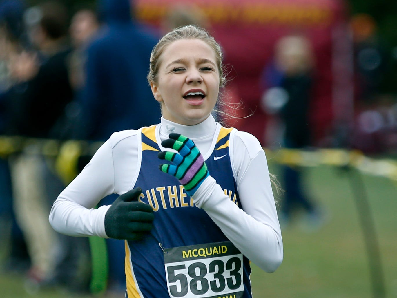 Pittsford Sutherland's Meredith Morse finished in 13th place in the Seeded AA group with a time of 18:25.00.