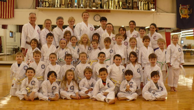 A Little Panda class at the Hidy Ochiai martial arts studio on the Vestal Parkway.