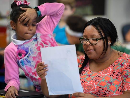Ebony Baker, third grade writing teacher at Caze Elementary