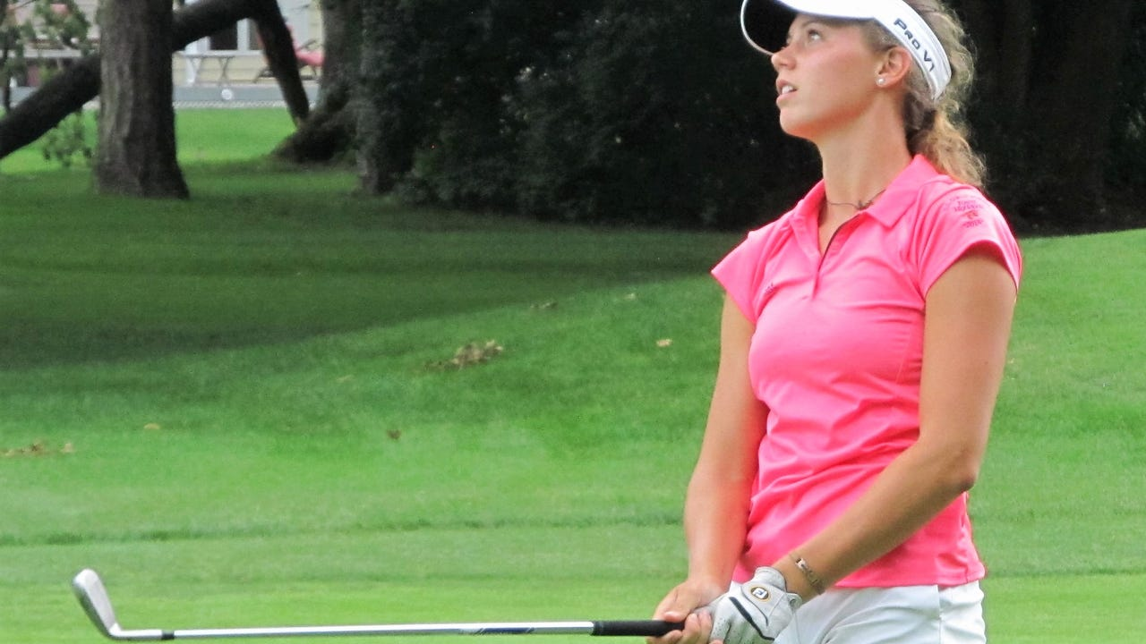 After a weather delay before the final hole, Brighton's Julia Dean lost 3-and-1 to Aya Johnson of Muskegon in the quarterfinals of the Michigan Women's Amateur at Saginaw Country Club.