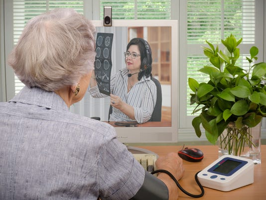 Virtual doctor - Telemedicine Stock Image