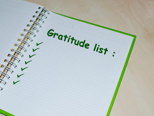 Gratitude list on open agenda