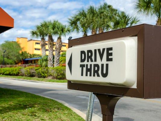 #stock Drive Thru Fast Food Stock Photo