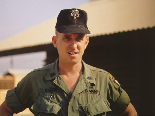 Then-Sgt. 1st Class Darol Walker in 1968 with Fox Company, 58th Long Range Patrol in Vietnam. The unit's mission was to act as the eyes and ears of the 101st Airborne Division.