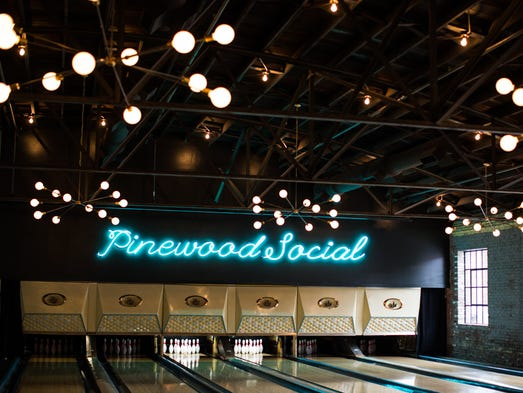 In Nashville, Pinewood Social's neon name shines above