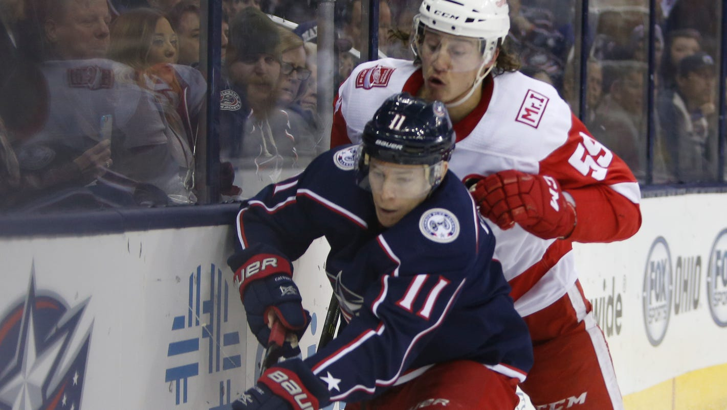 Blue Jackets 3, Red Wings 2