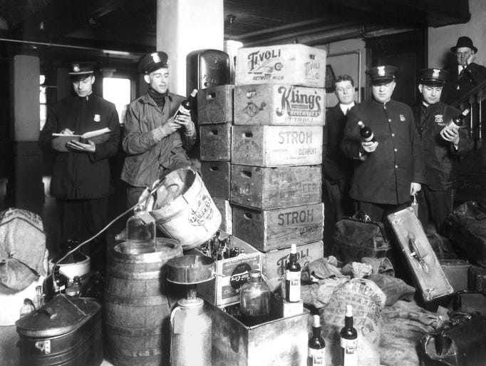 Prohibition became the law in 1920 and ended in 1933.