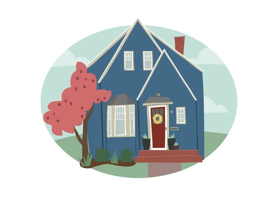 Emily Reetz does digital drawings of people's homes