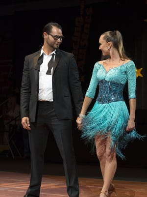 Detroit Tiger pitcher Anibal Sanchez and Yuliya Sinevych do the tango during the Dancing with the All Stars on Monday, August 3, 2015 at Joe Louis Arena in Detroit. The event is to benefit Jack's Place for Autism Foundation. Tim Galloway/Special for DFP