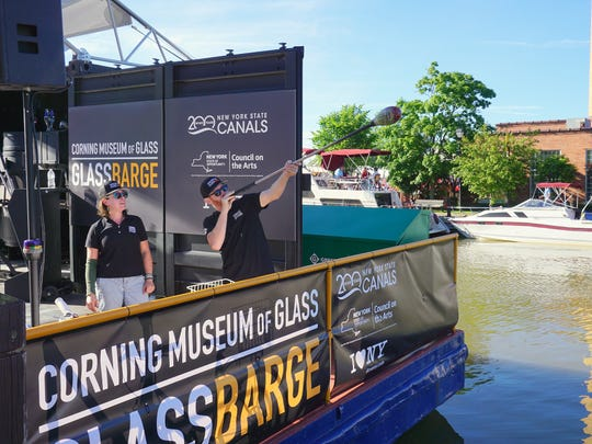 The Corning Museum of Glass took its hot glass show to Fairport Canal Days recently with its new GlassBarge program.