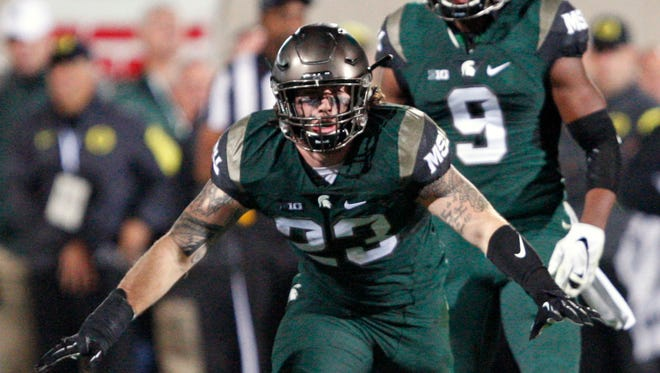 Michigan State linebacker Chris Frey