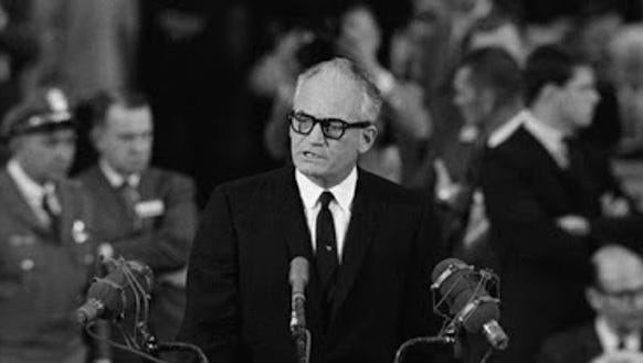 Republican Nominee Barry Goldwater speaking at the