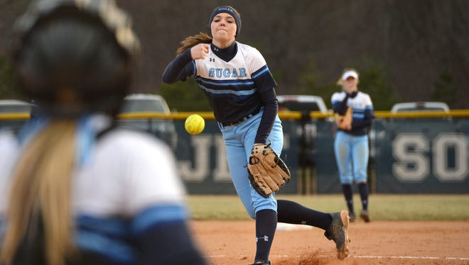 Courtney Pearson and the rest of the Enka softball team will play defending 4-A state champion D.H. Conley on April 30.