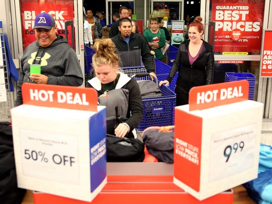 Shoppers take to Academy Sports and Outdoors bright