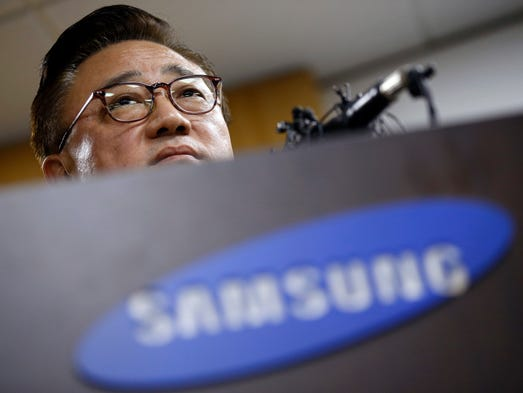 Koh Dong-jin, president of Samsung Electronics' mobile