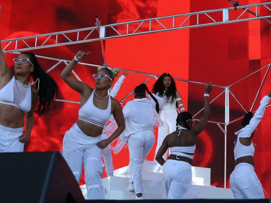 Apr 22, 2018; Indio, CA, USA; Cardi B performs during