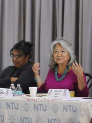 Luci Tapahonso, center, the Navajo Nation's first poet