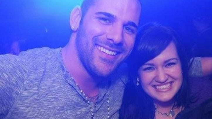 Nathan Cirillo poses for a photo with a friend.  Canadians