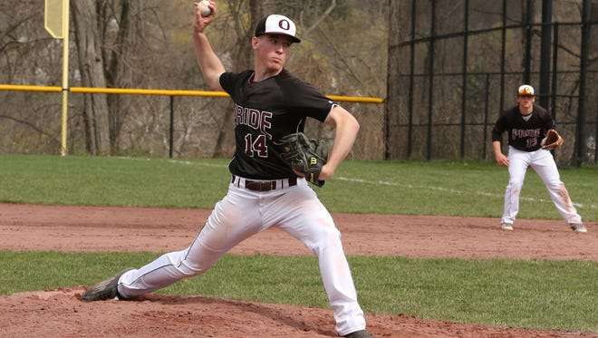 Ossining right-hander Keenan Grimley yielded five hits and struck out six in his complete-game victory.