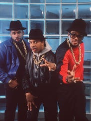 Run-DMC are seein in New York in 1988. The group's